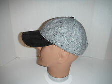 NEW WOOLRICH BASEBALL CAP HAT WOOL WITH LEATHER BILL