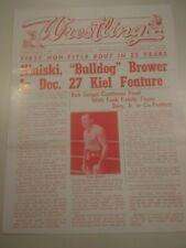 WWWF Vintage Funk Kiniski NWA 1968 wrestling program Crusher Bruiser Brower Ox