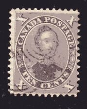 1859-1864 Canada SC# 17-First Cents Issue-HRH Prince Albert-Lot# CU10-Used