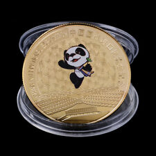 China International Exposition Commemorative Coin Panda Coin Gold Plated Gift BI
