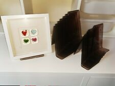 Plastic picture frame display stands 2 different sizes