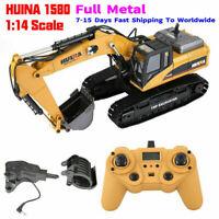 HuiNa 1580 1:14 Full Metal Excavator 3 in 1 Remote Control Engineering Car #GD