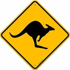 Kangaroo OZ Australia DIVERTENTE PORTA strada segno Adesivo Decalcomania Vinile Grafico etichetta