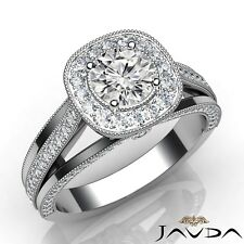 2.1ctw Comfort Fit Round Diamond Engagement Ring GIA G-VS2 White Gold Women New