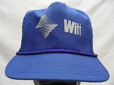 WITT - ROYAL BLUE - ONE SIZE - ADJUSTABLE PLASTIC SLIDER BALL CAP HAT!