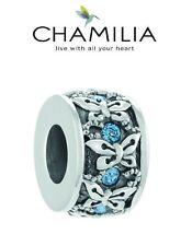 Nuevo Y En Caja chamilia 925 de plata y Swarovski Rondelle mariposa azul encanto grano, Verano