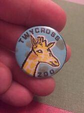 Vintage Pin Badge 1960's Memorabilia Twycross Zoo. Giraffe