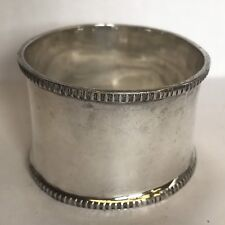 Vintage Solid Silver Napkin Ring 1943 Un-Inscribed Sheffield