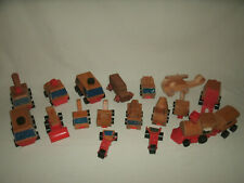 16 Vintage Mattel Wood Wooden Cars & Trucks and Other Wood Truck & Helicopter