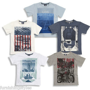 NEW CARGO KIDS BOYS CHILDREN COTTON FRONT PRINTED T SHIRT AGE 7-13