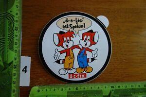 Alter Aufkleber Büro Schule KlebeFolie D-C-FIX Fix und Foxi (B)