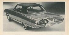 VINTAGE 1963 CHRYSLER TURBINE ARTICLE-CLASSIC AMERICAN PROTOTYPE CAR-MOPAR