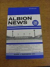 10/12/1966 West Bromwich Albion V Manchester City. questo oggetto è stato inspecte