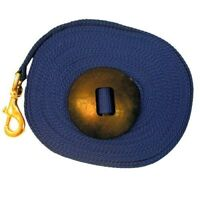 Intrepid International Lunge Line with Rubber Stopper, Navy, 25-Feet