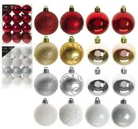 24 Pack 6cm (60mm) Christmas Tree Ornaments Hanging Luxury Baubles Xmas Decor