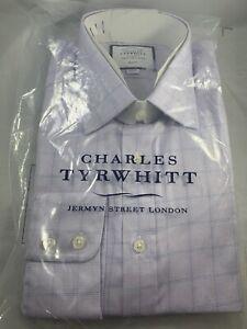 Charles Tyrwhitt Slim Fit Dress Shirt sz 15.5/ 39 Free Shipping