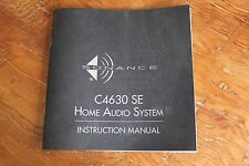 Sonance C4630 SE Home Audio System Instruction Manual
