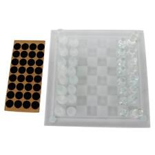 1 Set Traditional Glass Board Game Chess Travel Portable Chess Classic Toys
