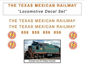 THE TEXAS MEXICAN RAILWAY Locomotive Decal set