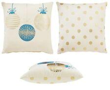 Christmas Xmas Sparkle Spot Filled Cushion, 43 x 43cm Double Sided Xmas Cushion