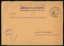 Mayfairstamps Germany 1941 POW Censored Cover to Switzerland Small Tears wwe9322