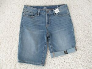 A.N.A. Denim Bermuda Jean Shorts Size 6 Stretch NWT