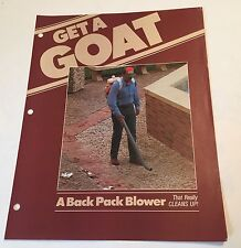 BILLY GOAT KS-225 Back Pack Blower Original 1970s Vintage Sales Brochure