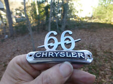 1930 Chrysler 66 Phaeton Headlight Bar emblem badge