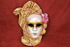 Venetian Wall Hanging Mask Gold Face Decoration Handmade Party Home Decor Italy