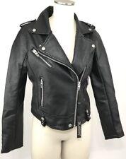 Blank NYC Jacket Size S Black Vegan Faux Leather Star Studded Moto Biker Womens