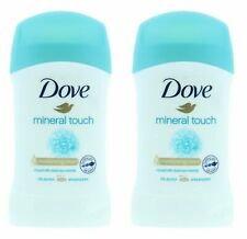 2 X  DOVE ANTIPERSPIRANT DEODORANT STICK MINERAL TOUCH 40ML