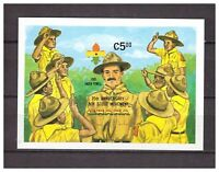 S14387) Ghana 1984 MNH Scout S/S Overprinted Imperforated