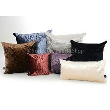 New Luxury Crushed Velvet Fabric Reversible Filled Cushions British Made Quality