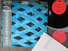 THE WHO Tommy JAPAN 2LP w/OBI+INSERT 28MM 0533~4 Free S&H/P&P