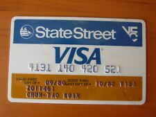 Vintage Expired 10/1982 State Street VISA Credit Card Blue/White/Brown
