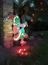 GRINCH Stealing CHRISTMAS Lights Yard Art faces left or right FREE SHIPPING!