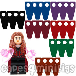 3 CUSTOM skirt capes for your Lego Scarlet Witch minifig. NO MINIFIGURE