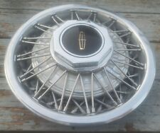 "(1) OEM 1983-1989 Lincoln Mark VI Town Car 15"" Wire Spoke Hubcap Wheel Cover #M"