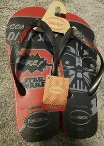 Havaianas Star Wars Flip Flops Dark Side Darth Vader NWT mens NEW SIZE 13 SOLO