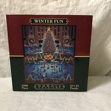 Winter Fun 1000 Piece Jigsaw Puzzle Dowdle Folk Art New York City Christmas
