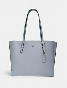 NWT COACH Mollie Tote Pebble leather/ In Signature Canvas Large Size