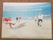 GEOFF HURST ENGLAND 1966 Original Hand Signed 16 x 12 Large Photo no 1