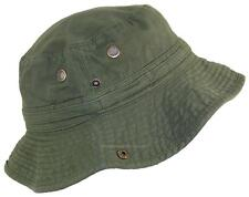 Tropic Hats Summer Floppy/Bucket Cap W/Snap Up Sides #906 Olive Large
