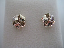 Gold knot earrings 9 carat multi colour gold
