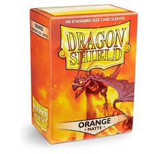 Dragon Shield 100 Standard Deck Protector Sleeves Matte Orange