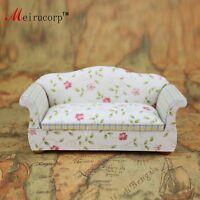Floral patterns Cloth 1/12 Scale Dollhouse Miniature Furniture Sofa 10407