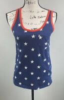 Women's Levi's Star-Print Tank Top Size XS Patriotic USA Red White Blue (G12)