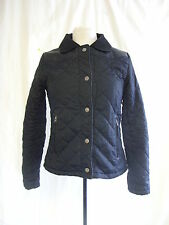 Ladies Coat - Kangol, size S, black, quilted, zip up, autumn, missing top - 1370