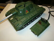 Vintage 1966 Topper Toys Deluxe R/C Tiger Joe Army Tank Untested