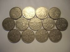 D Canada George V 1922 - 1936 Five Cents - Lot of 13 Coins